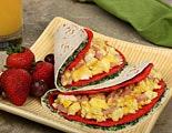 Spinach Florentine Stuffed Breakfast Tacos