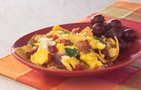 Prosciutto-basil & Mozzarella Migas