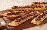Hummus & Olive Crostini