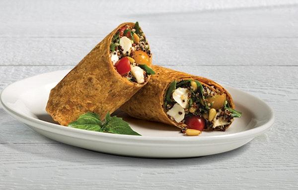 Caprese Quinoa Salad Wrap
