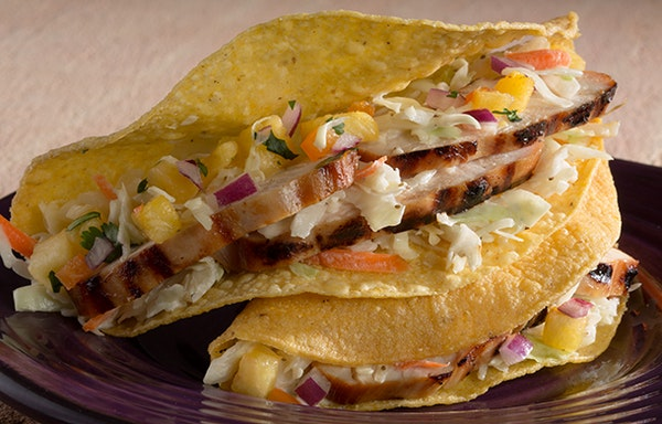 Chicken Teriyaki Crispy Tacos