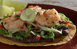 Spicy Grilled Shrimp Ceviche Tostada