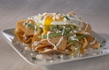 Chilaquiles Verdes with Fried Eggs