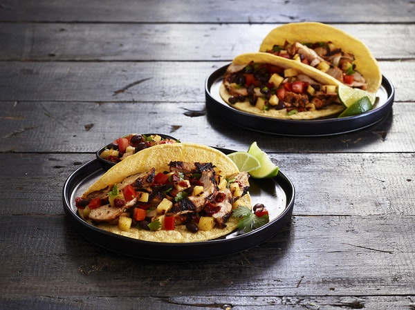Charred Chicken Tacos with Pineapple Salsa