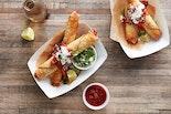 """Chipotle Chicken Taquito """"Enchilada-style"""""""