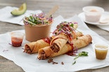 Street Food Taquitos with Purple Cabbage Slaw