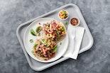 Orange-Sesame Ham & Pineapple Tacos