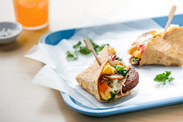 Meatless Sausage Quesadilla Breakfast Sliders