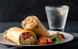 Pesto Shrimp & Cauliflower Rice Burrito